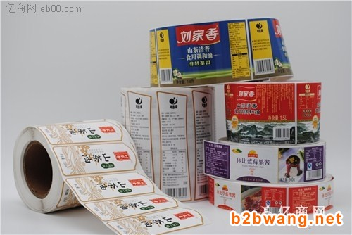 上海礼盒标签印刷 日化用品标签印刷 卷筒标签印刷报价